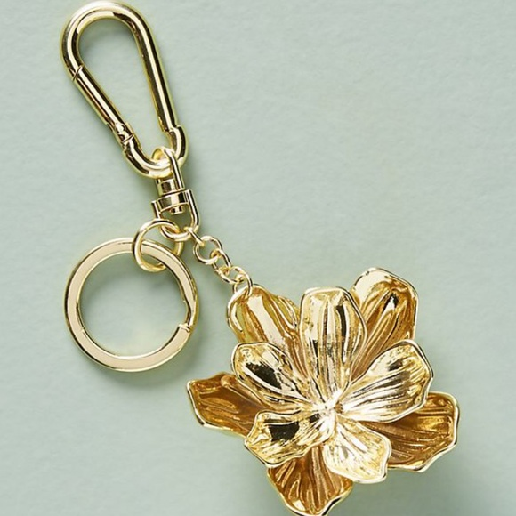Nwt Anthropologie Gold Flower Keychain   Nwt by Anthropologie